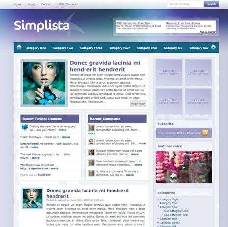 simplista wpnow theme - WpNow WordPress Themes