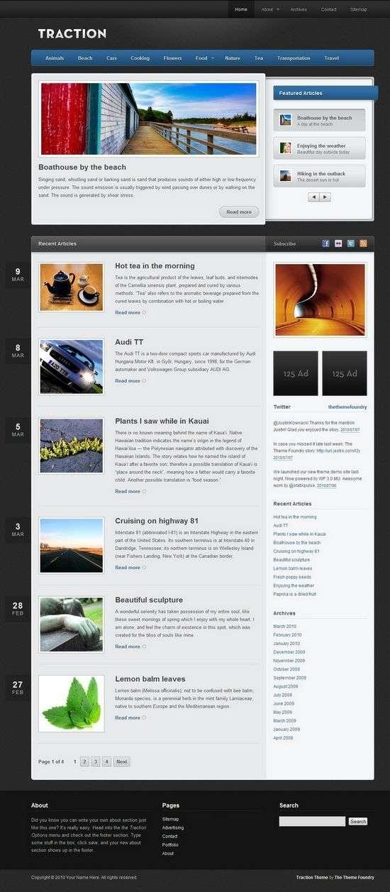 traction wordpress theme - Traction Premium WordPress Theme