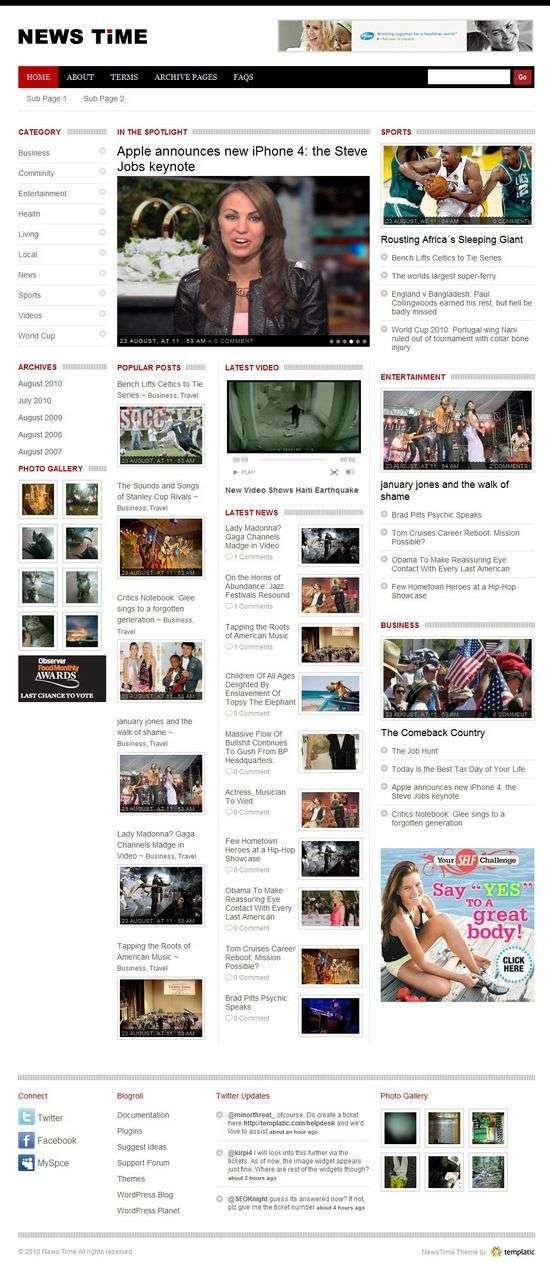 newstime wordpress theme - NewsTime Premium WordPress Theme
