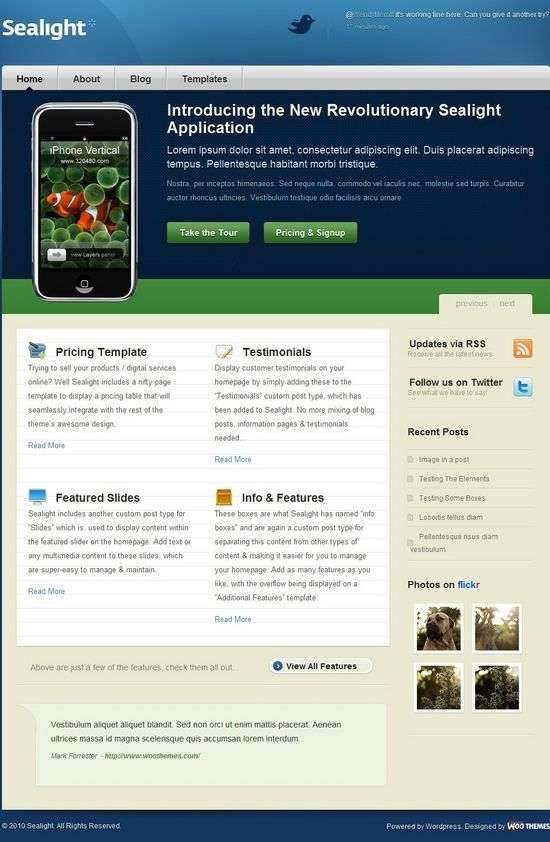 sealight woothemes wordpress - SeaLight Premium WordPress Theme