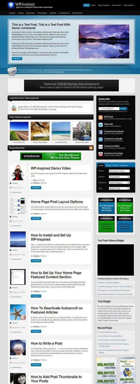 wp inspired wordpress theme - WP-Inspired Premium WordPress Theme