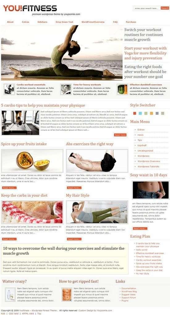 youfithess wordpress theme - YouFitness Premium WordPress Theme