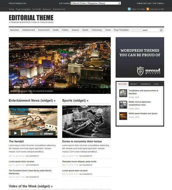 editorial wordpress theme - Editorial Premium WordPress Theme
