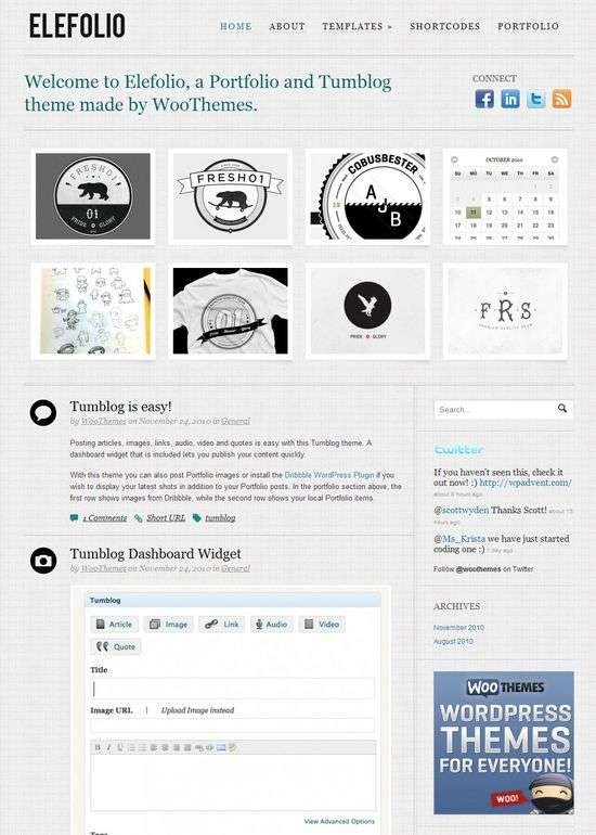 elefolio wordpress theme - Elefolio Premium WordPress Theme