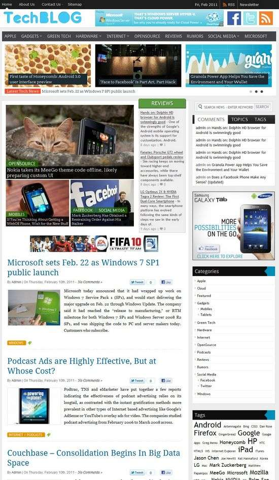 techblog wordpress theme - Techblog Premium WordPress Theme