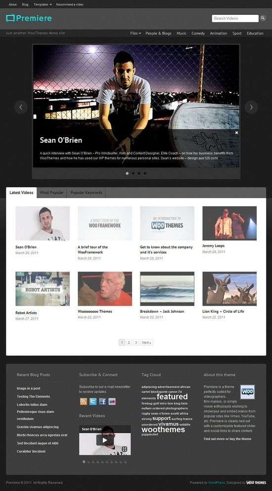 premiere wordpress theme - Premiere Premium WordPress Theme