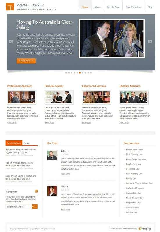private lawyer wordpress theme - Private Lawyer Premium WordPress Theme