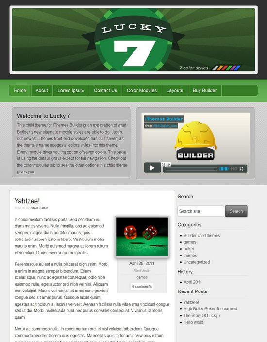 lucky7 wordpress theme - Lucky7 WordPress Theme
