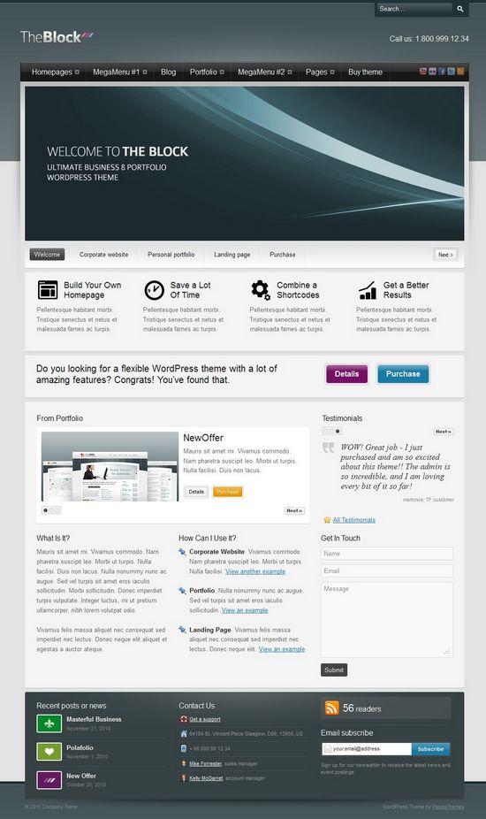 the block wordpress theme - The Block WordPress Theme