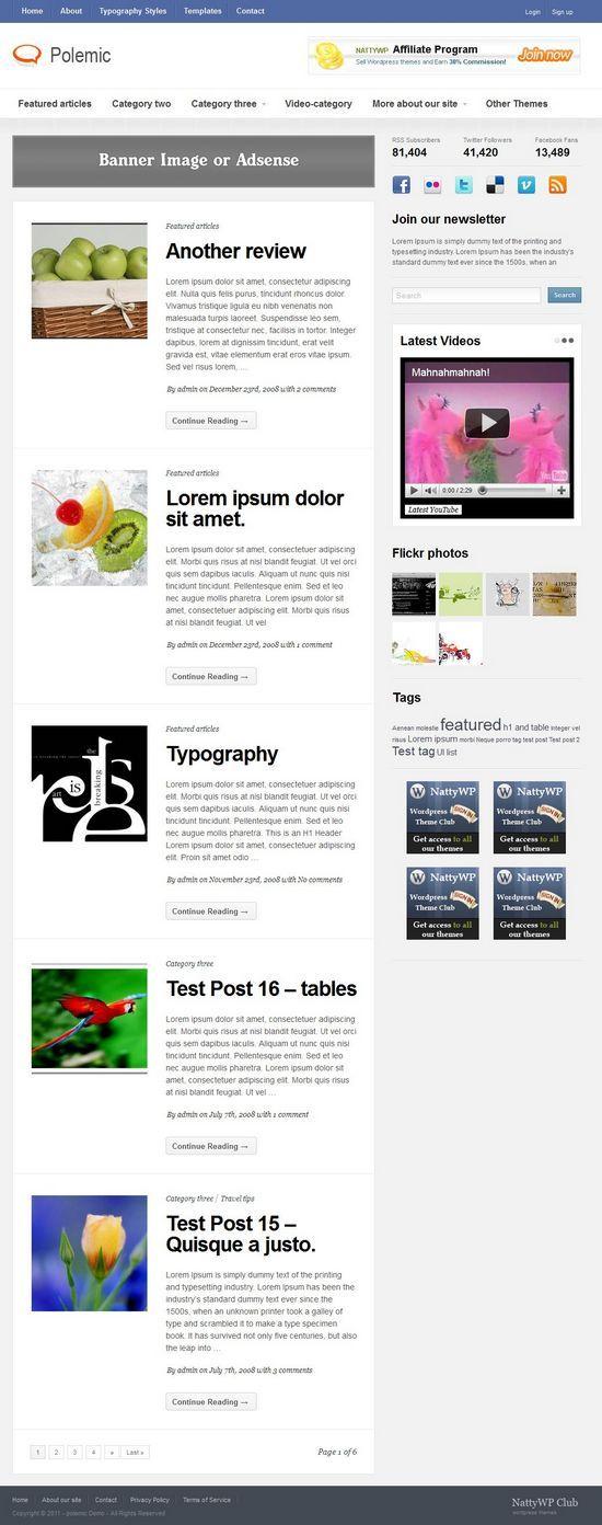 polemic magazine wordpress theme - Polemic WordPress Theme