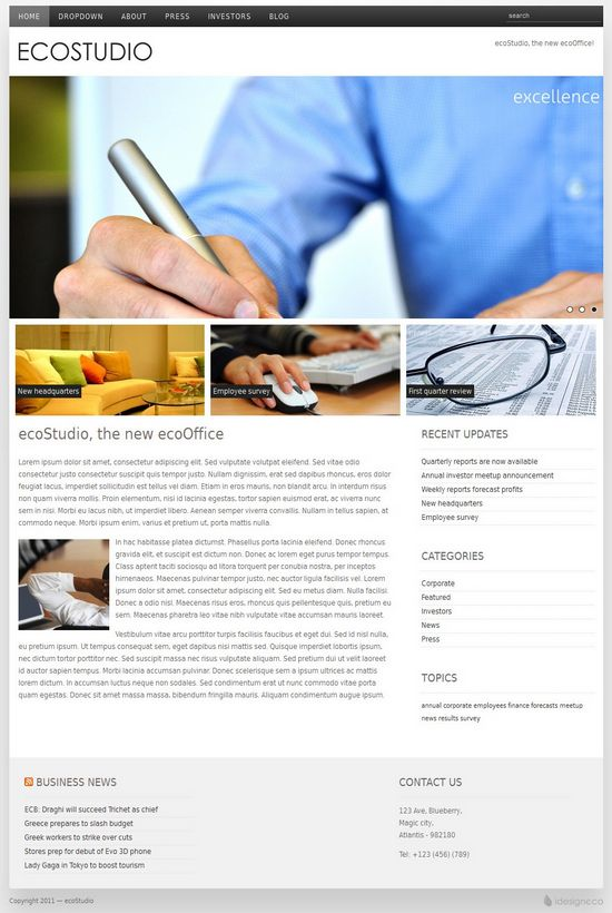eco studio idesigneco avjthemescom - ecoStudio WordPress Theme