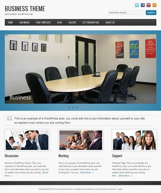 clover business avjthemescom - Clover Business WordPress Theme