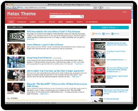 relax theme - Brillthemes Premium WordPress Themes