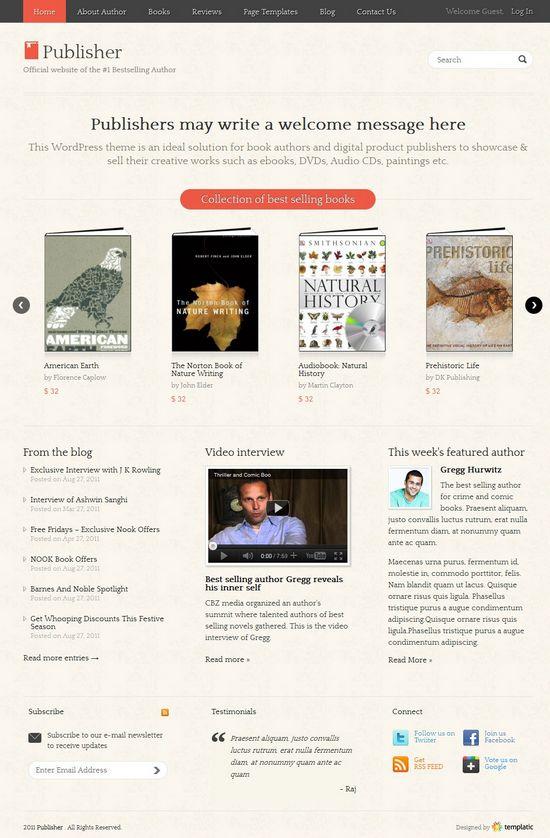 templatic publisher avjthemescom - Publisher WordPress Theme