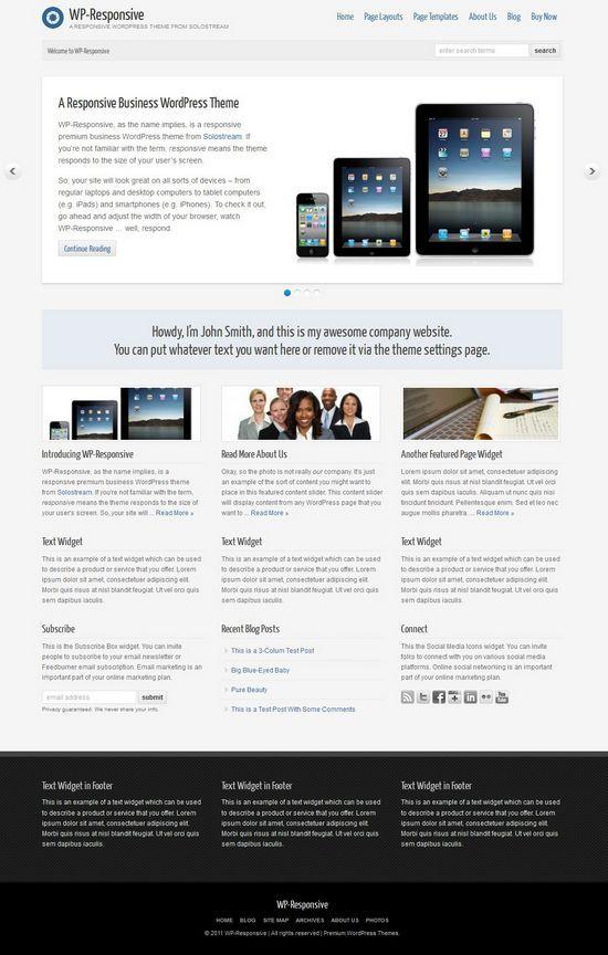 wp responsive solostream avjthemescom - WP Responsive WordPress Theme
