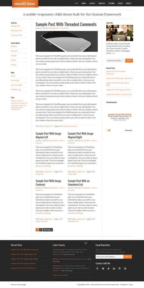 eleven40 wordpress theme - Eleven40 WordPress Theme