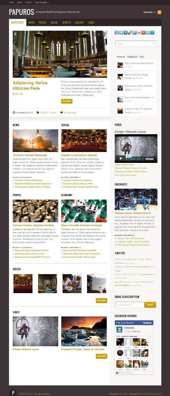 papuros colorlabsproject avjthemescom 01 - Papuros WordPress Theme