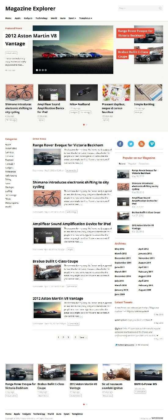 magazine explorer wpzoom avjthemescom 01 - Magazine Explorer WordPress Theme