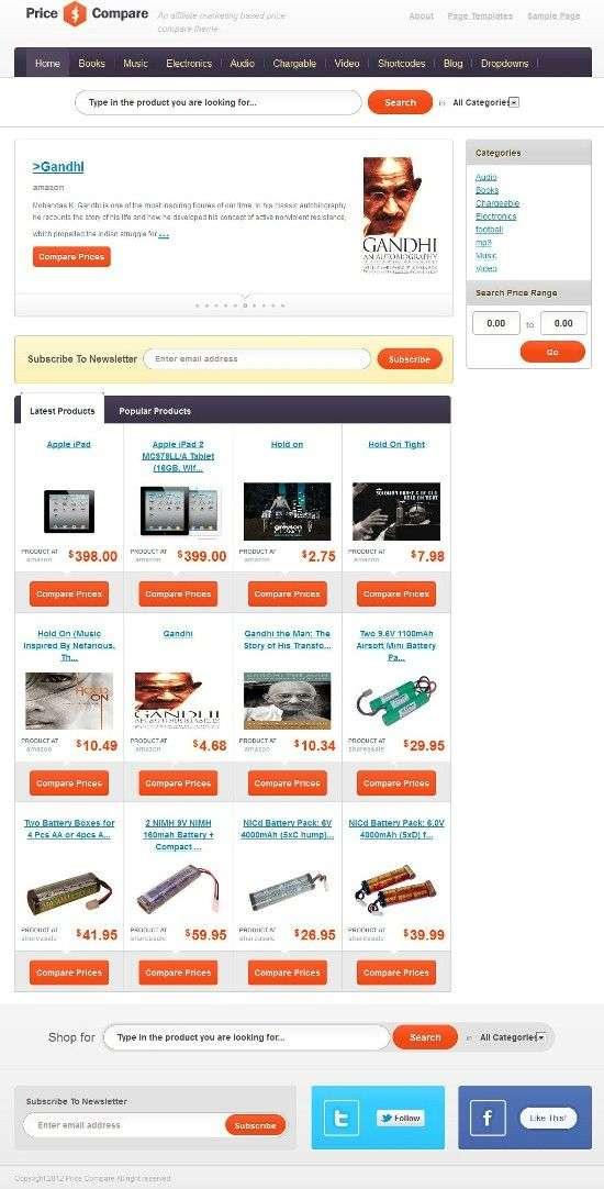 price compare templatic avjthemescom 01 - Price Compare WordPress Theme