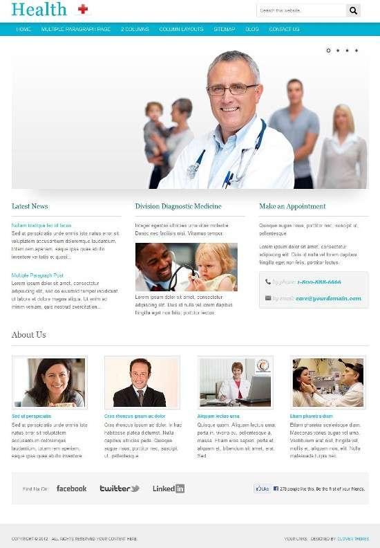 health clover avjthemescom 01 - Clover Health WordPress Theme