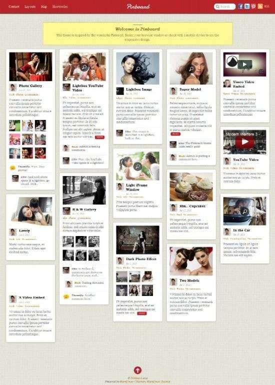 pinboard pinterest themify - Pinboard WordPress Theme