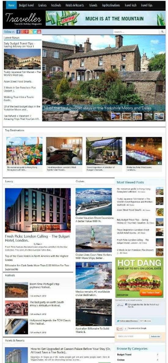 traveller magazine3 avjthemescom 1 - Traveller WordPress Theme