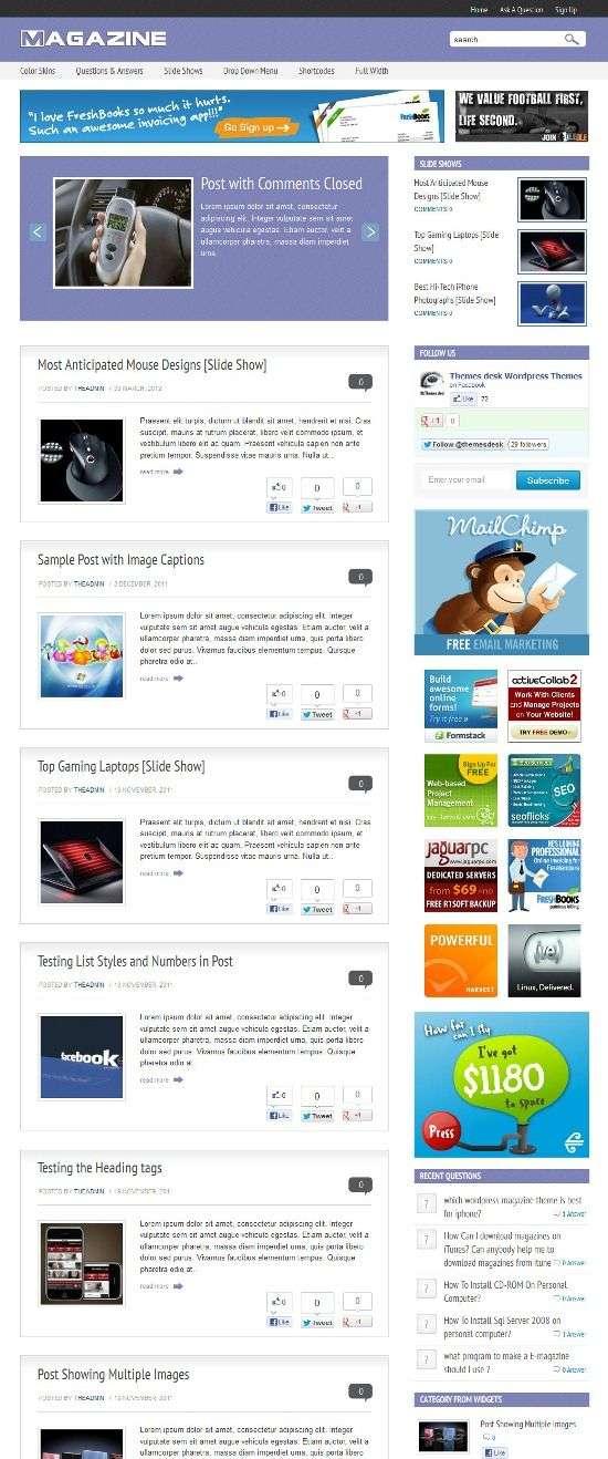 magazine qna themesdesk - Magazine Q&A WordPress Theme