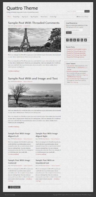 quattro studiopress avjthemescom 01 - Quattro WordPress Theme