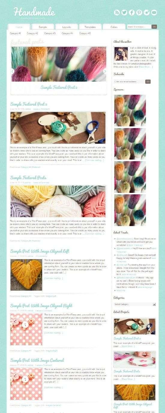 handmade studiopress avjthemescom 01 - Craftiness WordPress Theme