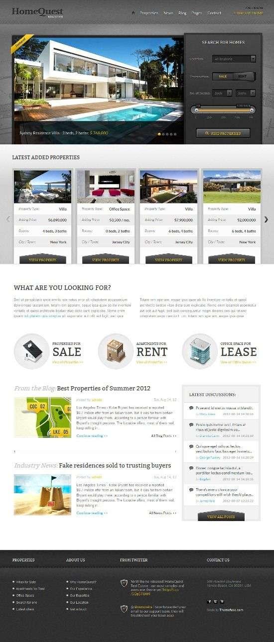 homequest themefuse avjthemescom 01 - Homequest WordPress Theme