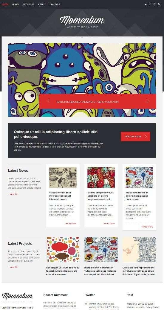 momentum themeskingdom avjthemescom 01 - Momentum WordPress Theme