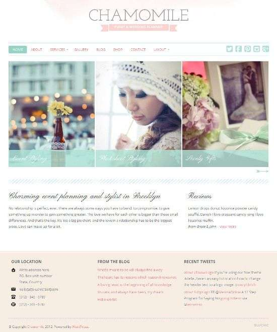chamomile bluchic avjthemescom - Chamomile WordPress Theme