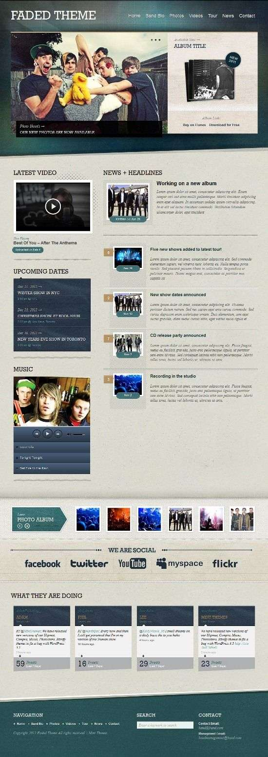 faded mintthemes avjtehmescom 1 - Faded WordPress Theme
