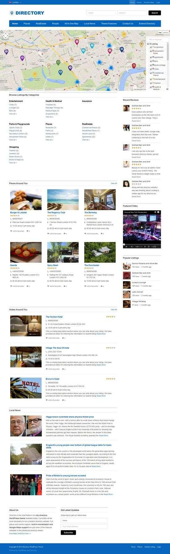 templatic directory avjthemescom 01 - Templatic Directory WordPress Theme