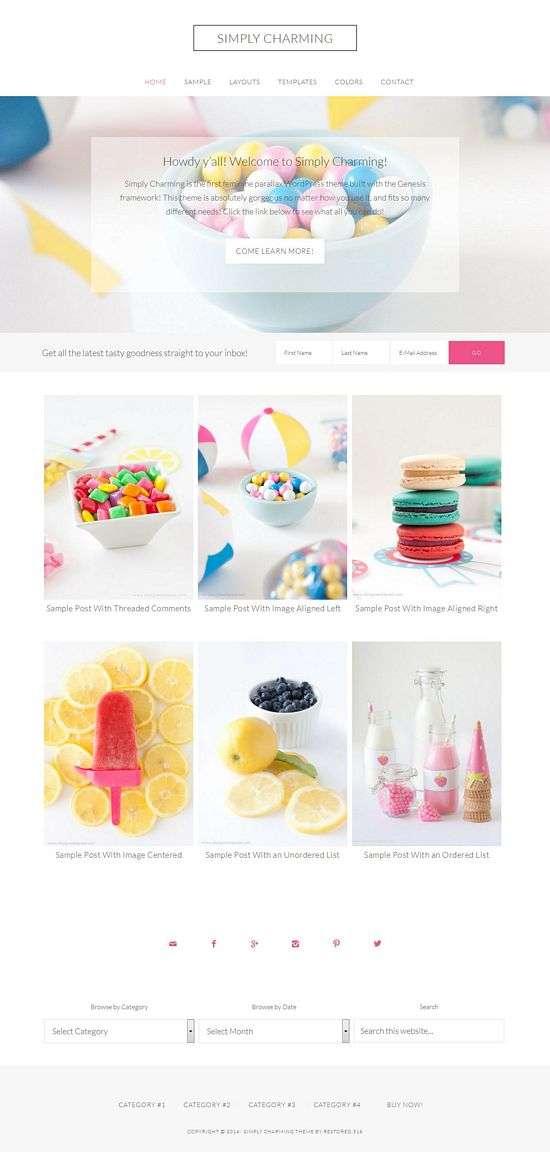simply charming restored316designs avjthemescom 01 - Simply Charming WordPress Theme
