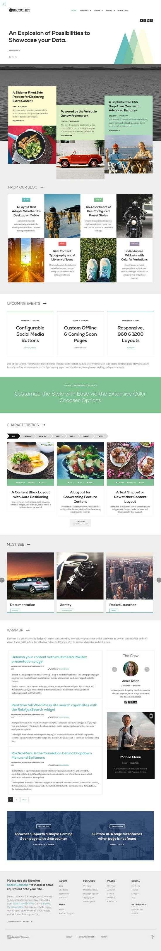 ricochet rockettheme wordpress 1 - Ricochet WordPress Theme