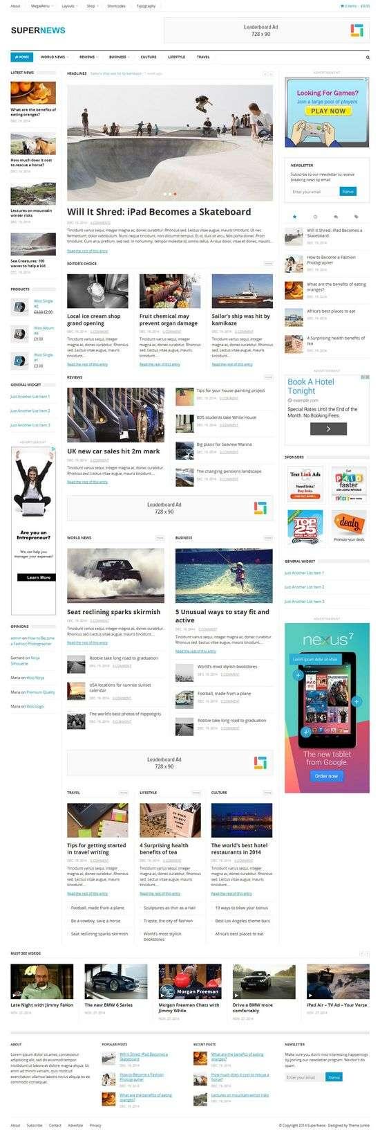 supernews theme junkie 1 - SuperNews WordPress Theme