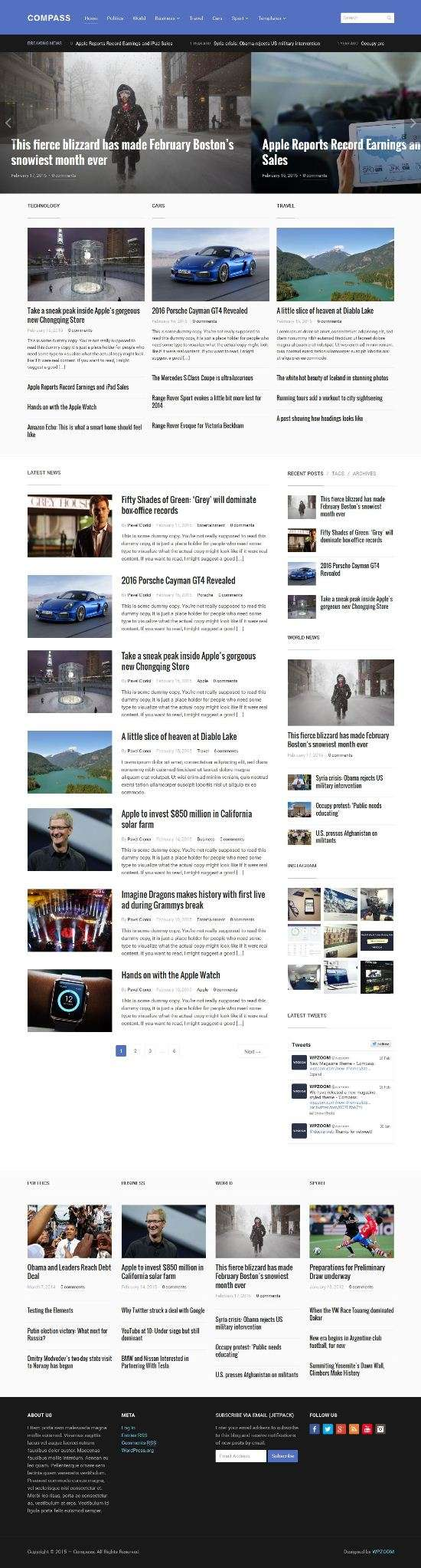 compass wpzoom wordpress 01 - Wpzoom Compass WordPress Theme