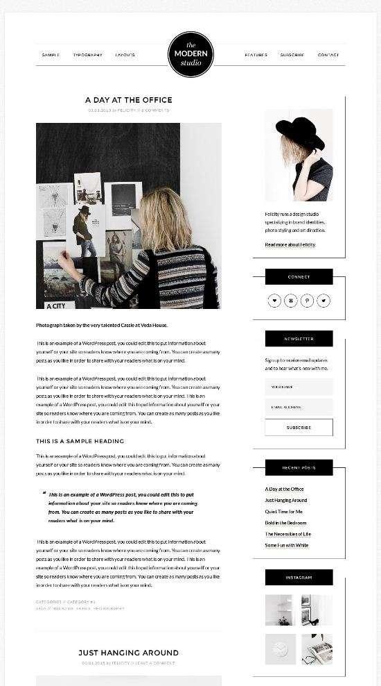the modern studio–studiopress wordpress 01 - The Modern Studio Pro WordPress Theme