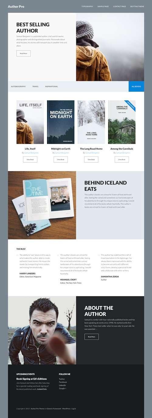 author pro studiopress wordpress theme - Author Pro WordPress Theme
