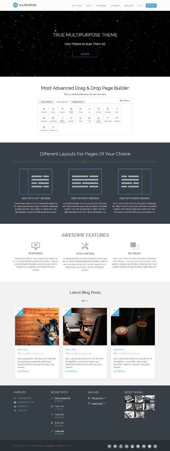 wp multipurpose solostream wordpress themes 1 - WP-Multipurpose WordPress Theme