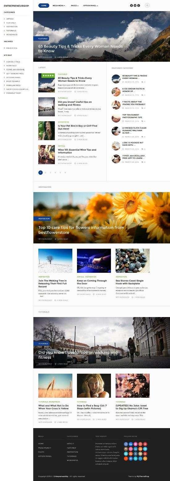 entrepreneurship mythemeshop magazine theme - Entrepreneurship WordPress Theme