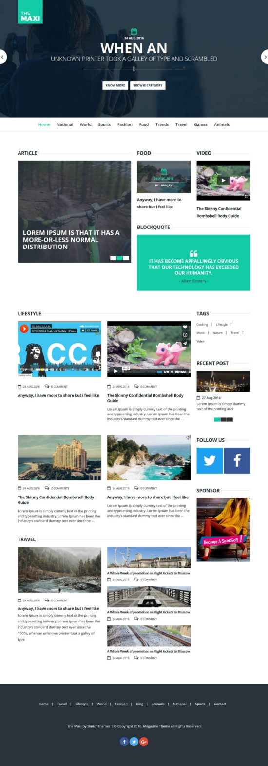 the maxi sketch themes wordpress 01 550x1569 - The Maxi WordPress Theme