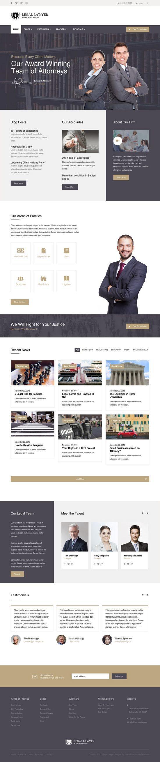 legal lawyer shape5 joomla templates 01 550x2617 - Legal Lawyer Joomla Template