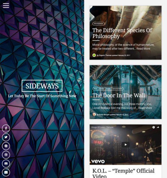 sideways organic wordpress theme 01 550x587 - Sideways WordPress Theme