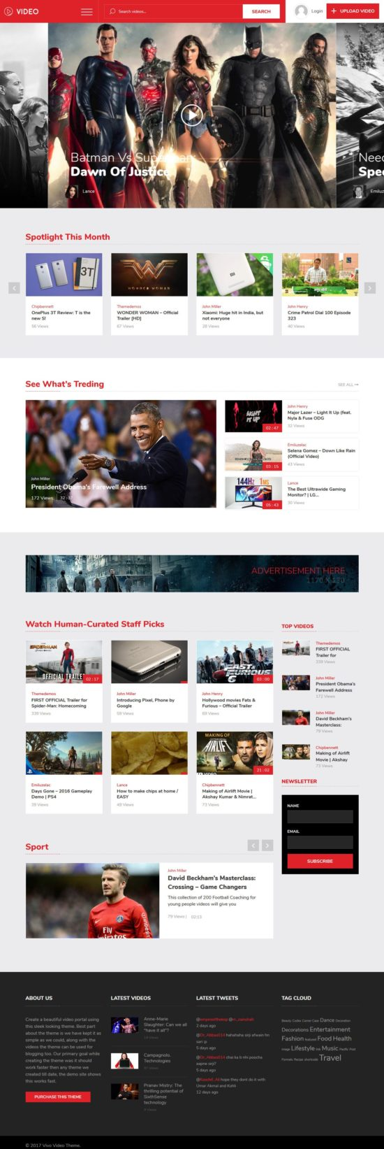 vivo video templatic themes wordpress themes 01 550x1643 - Vivo WordPress Theme