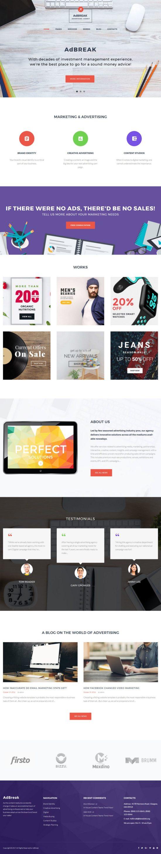 adbreak template monster wordpress theme 01 550x2908 - AdBreak WordPress Theme