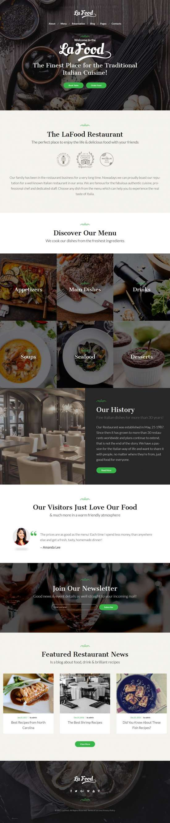 la food wordpress theme restaurants 01 550x2654 - La Food WordPress Theme