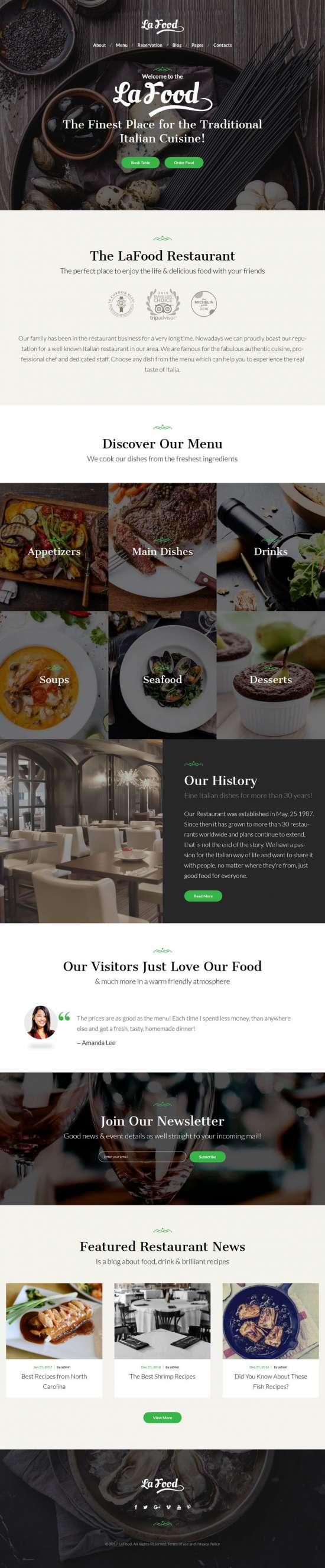 la food wordpress theme restaurants 01 550x2654 - La Food WordPress Theme