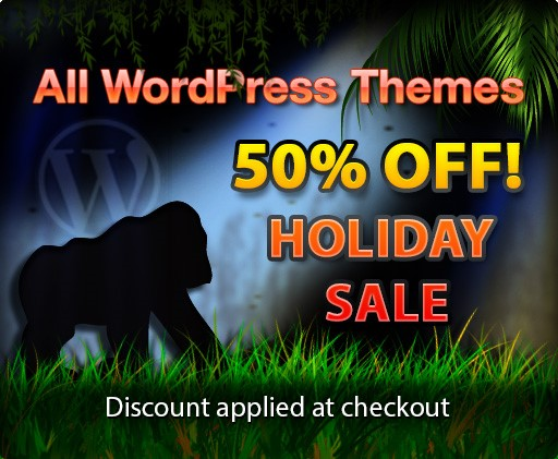 gorilla themes 50 off - Gorilla Themes 50% Off On Any Theme